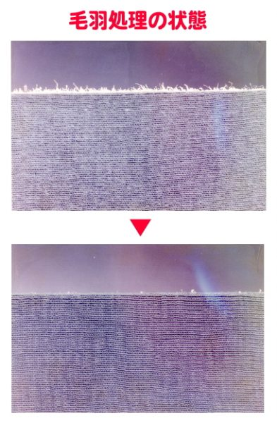 天然素材の繊維の毛羽が気になりませんか??  最初に買ったときはキレイだったのに・・・     弊社では、こんな悩みに解決すべく、オリジナルで商品を作りました。     「セルラーゼ(繊維分解酵素)」を使えば、下記のように簡単にキレイに毛羽を処理することができます。