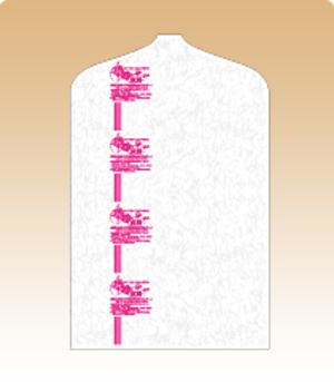 防カビ・防虫・抗菌効果の不織布カバー31193(背広用) 格安 100枚入り