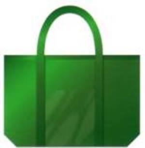 不織布バッグ フリーバッグ中 (緑) 100枚入り
